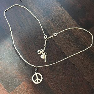 Fossil Peace sign necklace